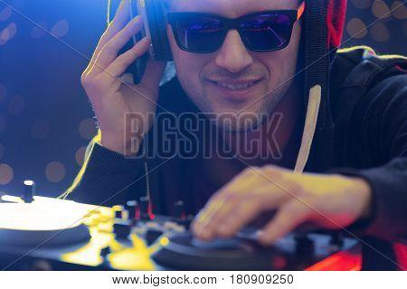 Club Dj Playing Music