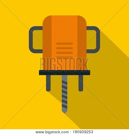 Orange boer drill icon. Flat illustration of orange boer drill vector icon for web