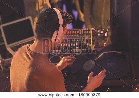 Dj Holding Vinyl Record
