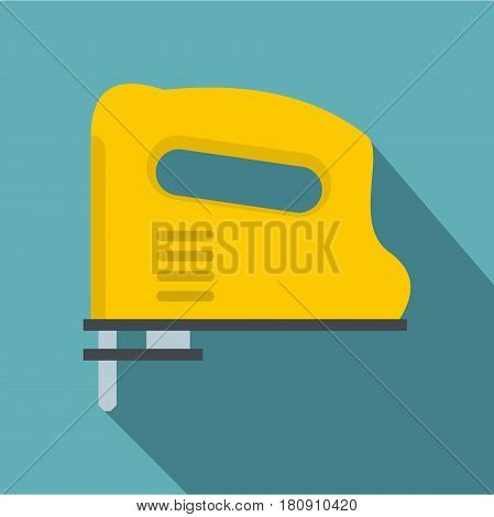 Yellow pneumatic gun icon. Flat illustration of yellow pneumatic gun vector icon for web