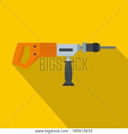Electric drill, perforator icon. Flat illustration of electric drill, perforator vector icon for web