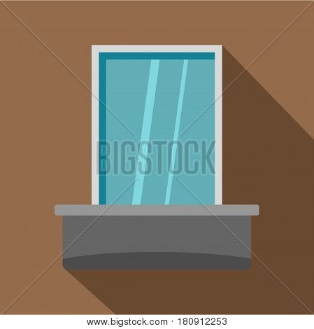 Blind window icon. Flat illustration of blind window vector icon for web