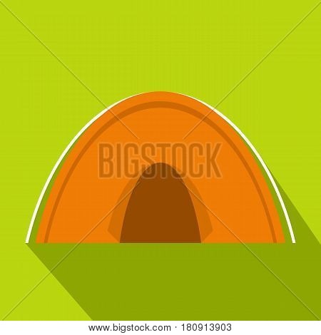 Tent icon. Flat illustration of tent vector icon for web