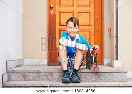 Boy With Broken Hand