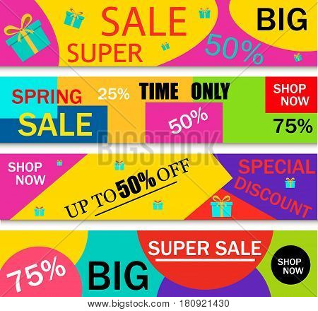 Summer sale template banner price label offer summer sale discount promotion beach fashion shop vector illustration. Hot summer season sale clearance tag template retail store flyer.