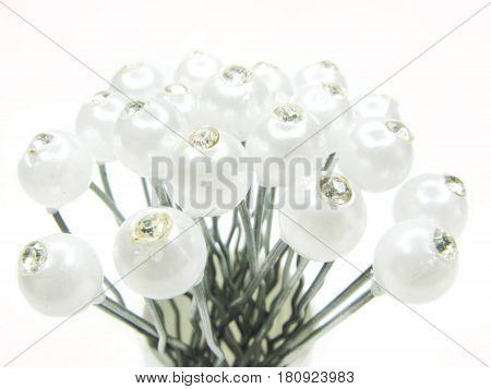 decorative pearl beads hairpins for making coiffure