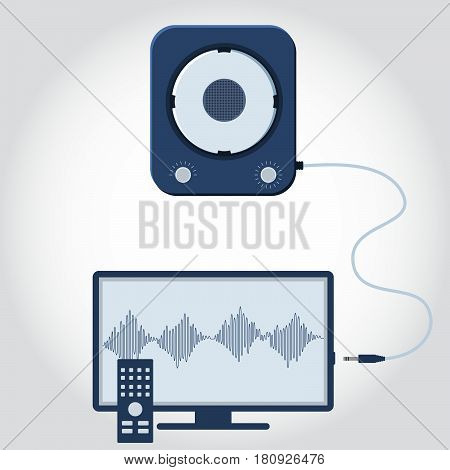 Television And Speaker