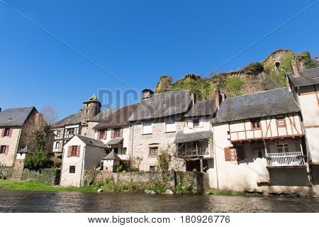 Little French village Segur-Le-Chateau in the Limousin