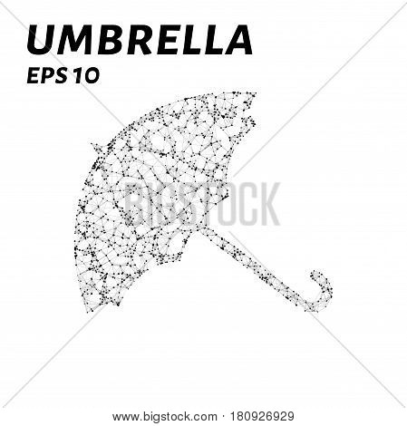 The Umbrella Consists Of Points, Lines And Triangles. The Polygon Shape In The Form Of An Umbrella A