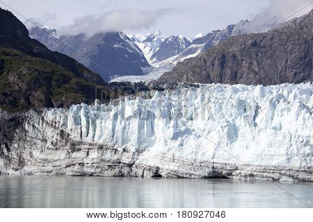 The view of a glacier in Glacier Bay national park (Alaska).