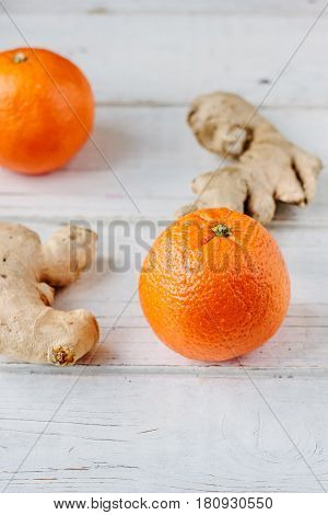 Organic Orange And Ginger Root