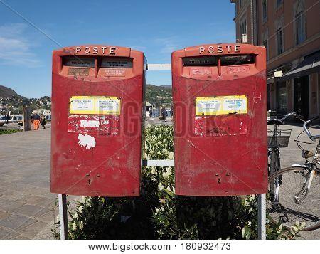 Red Italian Mailbox In Como