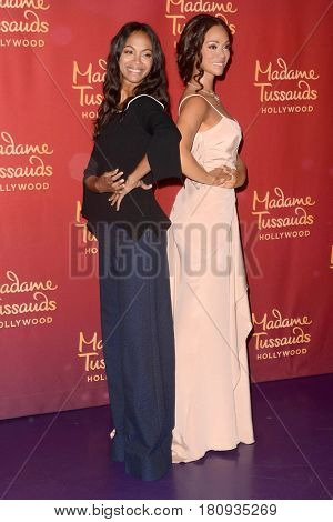 LOS ANGELES - APR 7:  Zoe Saldana, Zoe Saldana Wax Figure at the Madame Tussauds Hollywood Zoe Saldana Wax Figure Unveiling  at the Madame Tussauds Hollywood on April 7, 2017 in Los Angeles, CA