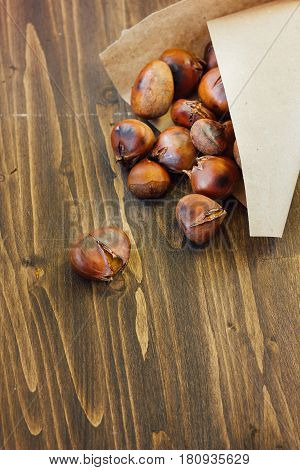 Roasted Chestnuts In Paper Cornet