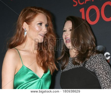 LOS ANGELES - APR 8:  Darby Stanchfield, Katie Lowes at the