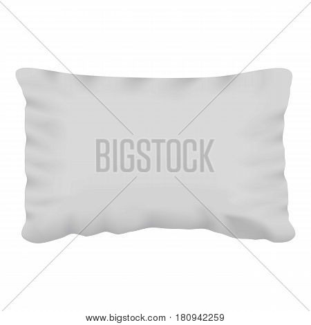 White pillow mockup. Realistic illustration of white pillow vector mockup for web