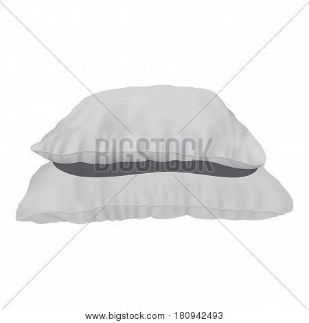 Stack of pillows mockup. Realistic illustration of stack of pillows vector mockup for web