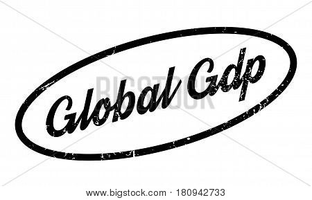 Global Gdp rubber stamp. Grunge design with dust scratches. Effects can be easily removed for a clean, crisp look. Color is easily changed.