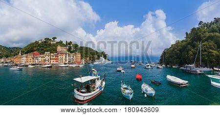 Portofino luxury resort - Italy - architecture background