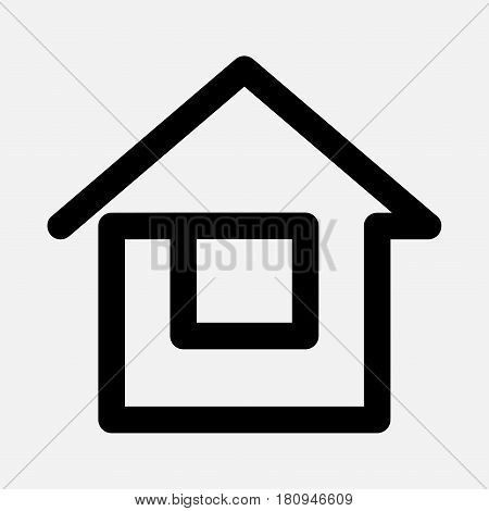 Home web icon. Fully editable vector image.