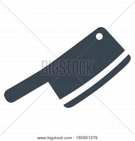 Butchery Blade flat vector pictograph. An isolated illustration on a white background.
