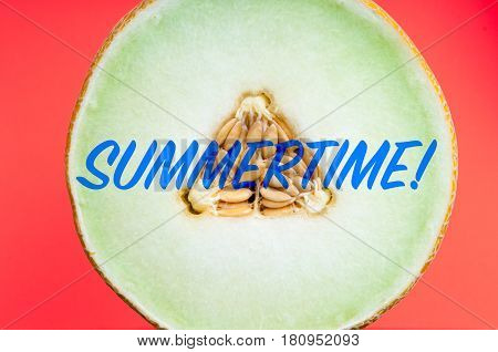 Retro Styled Text With A Summer Theme Message