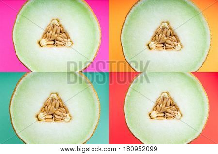 Abstract Summer Food Background In Pop Art Style