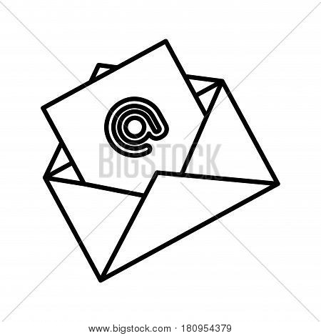 envelope with arroba icon vector illustration design