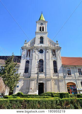 Aiud city romania catholic church landmark architecture