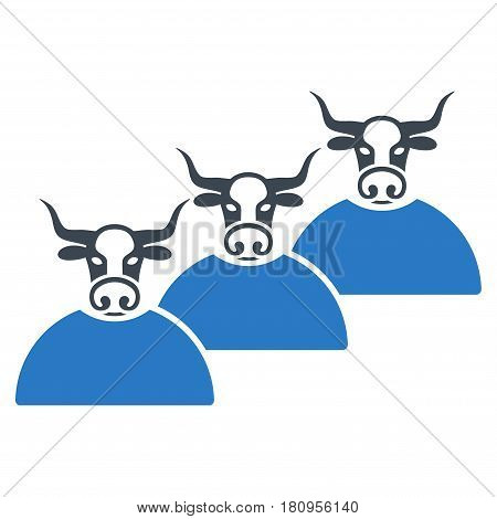 Livestock Herd flat vector pictogram. An isolated illustration on a white background.