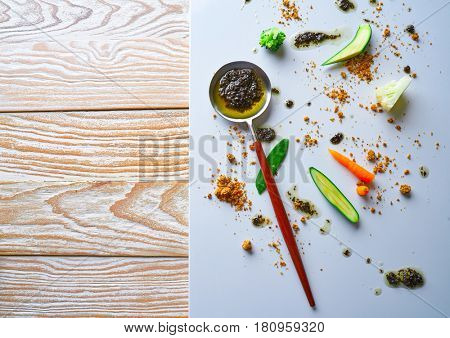 abstract gastronomy vanguard concept molecular cuisine background