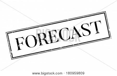 Forecast rubber stamp. Grunge design with dust scratches. Effects can be easily removed for a clean, crisp look. Color is easily changed.