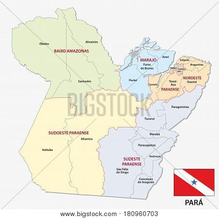 para administrative and political map with flag