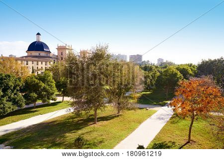 Valencia San Pio V view from Turia park at Spain