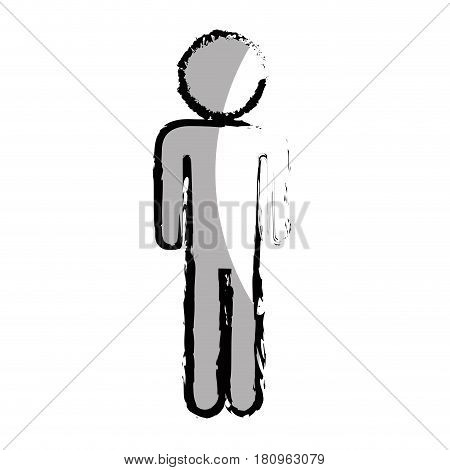 human figure silhouette icon vector illustration design