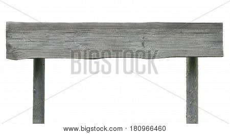 Signpost signboard wooden plank closeup grey horizontal isolated copy space background rural pointer and pole posts old aged weathered gray isolated sign board blank empty cut timber texture grunge rough rustic vintage lumber wood pattern