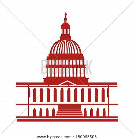 united states of america capitol building vector illustration design