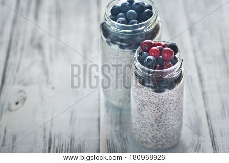 Chia Seed Pudding With Fresh Berries