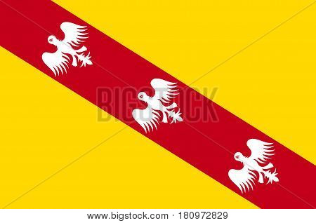 Flag of Lorraine is a cultural and historical region in north-eastern France now located in the administrative region of Grand Est