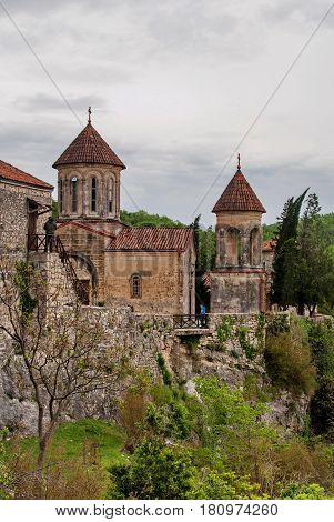 Motsameta Monastery - A Small Temple In The Surrounding Area Of Kutaisi. It Buried Martyrs David And