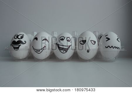 Easter Eggs In White Group