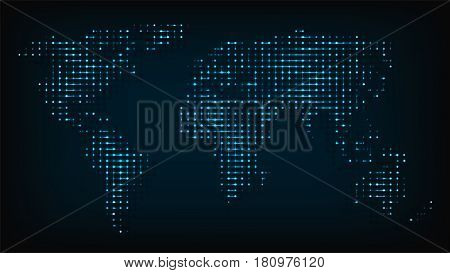 Vector y foto world map isolated night lights bigstock world map isolated from night lights abstract vector illustration abstract world map computer round point gumiabroncs Choice Image