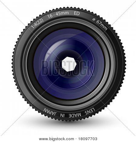 Vektor-Illustration eines Kamera-Objektiv
