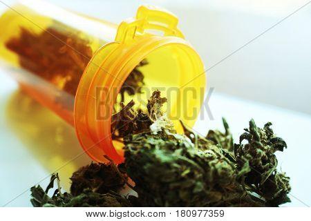 Medical Marijuana Buds Close Up High Quality
