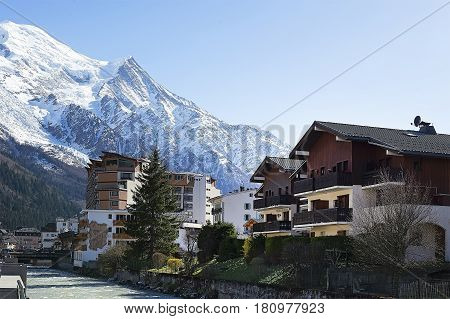 Spring in Chamonix Mont Blanc French Alps