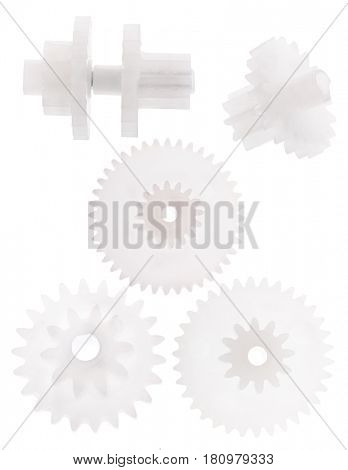 light gears isolated on white background