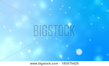 Blurry Bokeh Effects on Blue Background High Quality Illustration