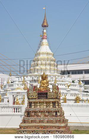 Temple of Wat Songtham Phra Pradaeng district Samut Prakan Province Thailand