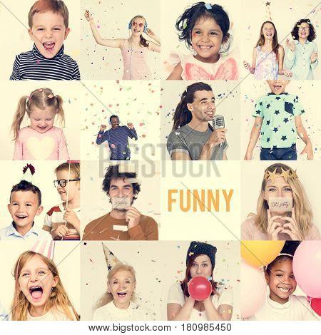 Studio People Collage Fun Concept
