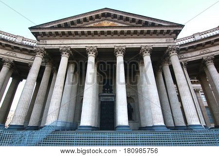 Kazan Cathedral is a cathedral on the Nevsky Prospekt in Saint Petersburg, Russia